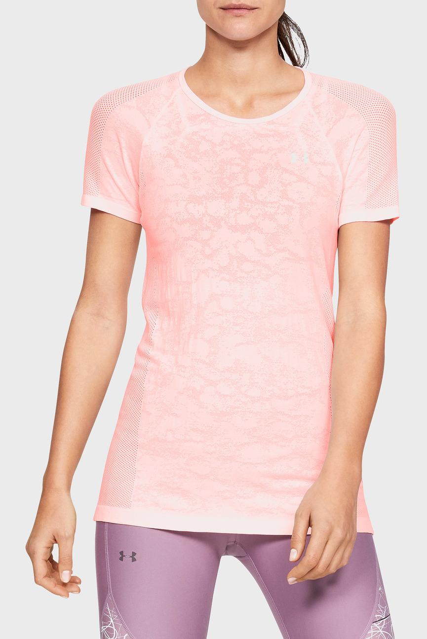 Женская розовая футболка UA Vanish Seamless Mesh SS