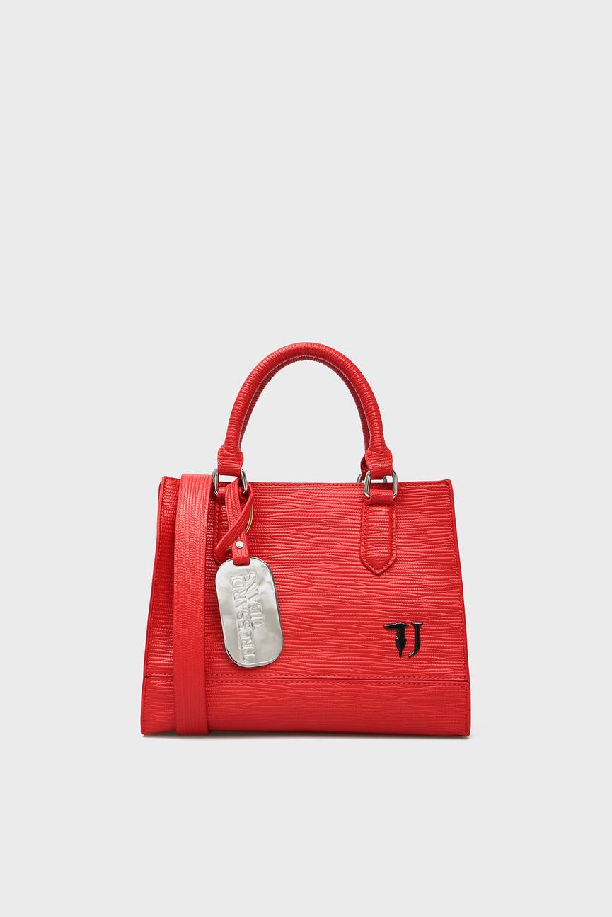 Женская красная сумка на плечо T-EASY