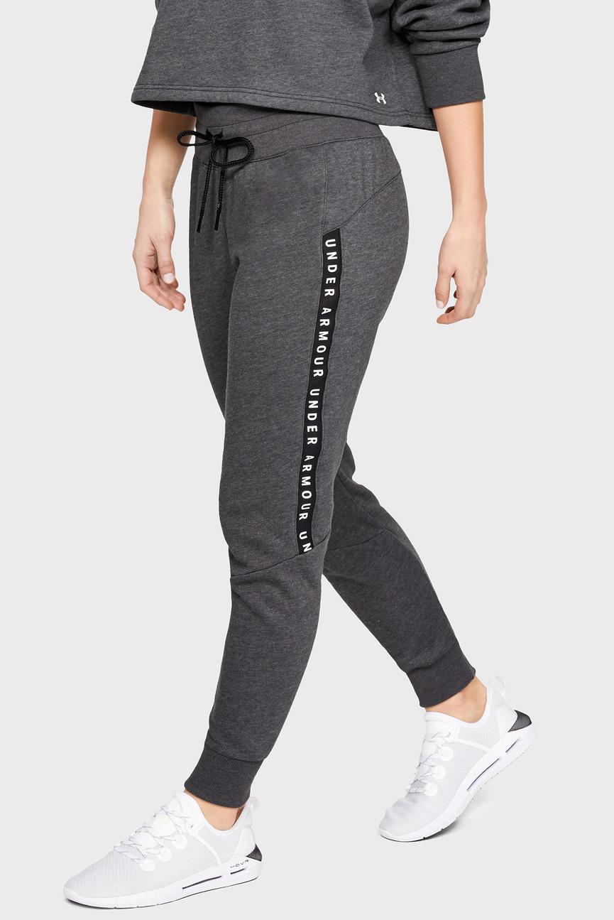 Женские серые спортивные брюки UA TAPED FLEECE
