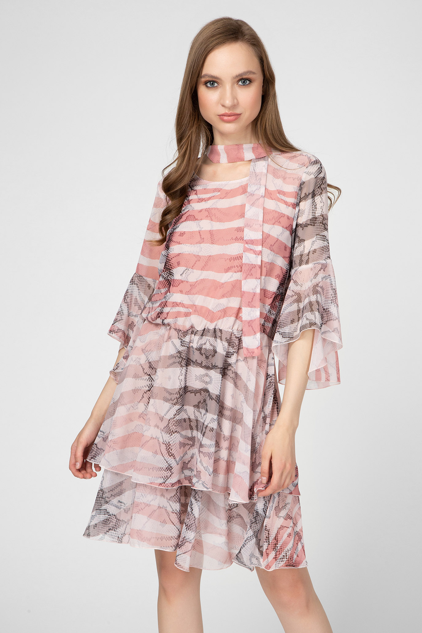 Женское платье GEORGETTE ANIMAL PRINT Trussardi Jeans