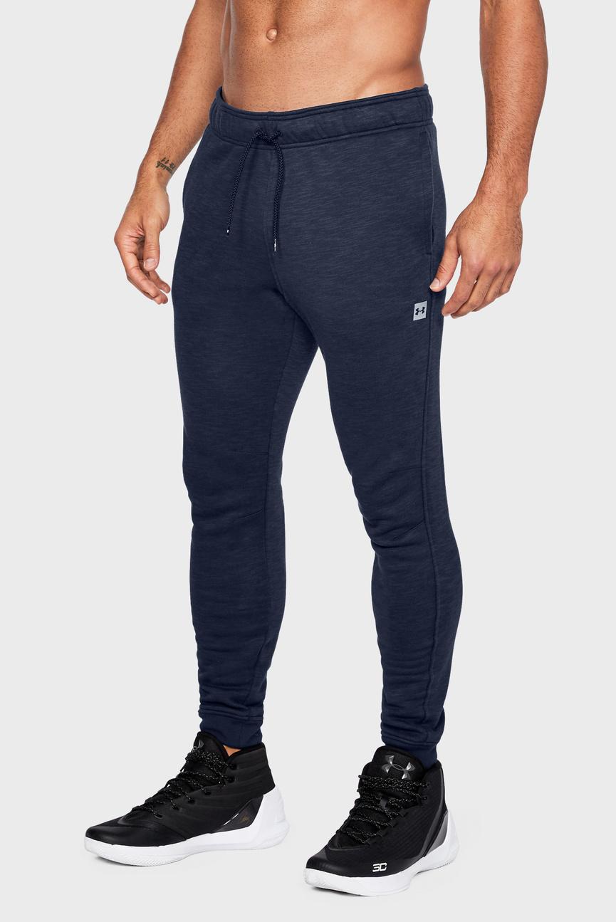 Мужские синие спортивные брюки UA Baseline Tapered
