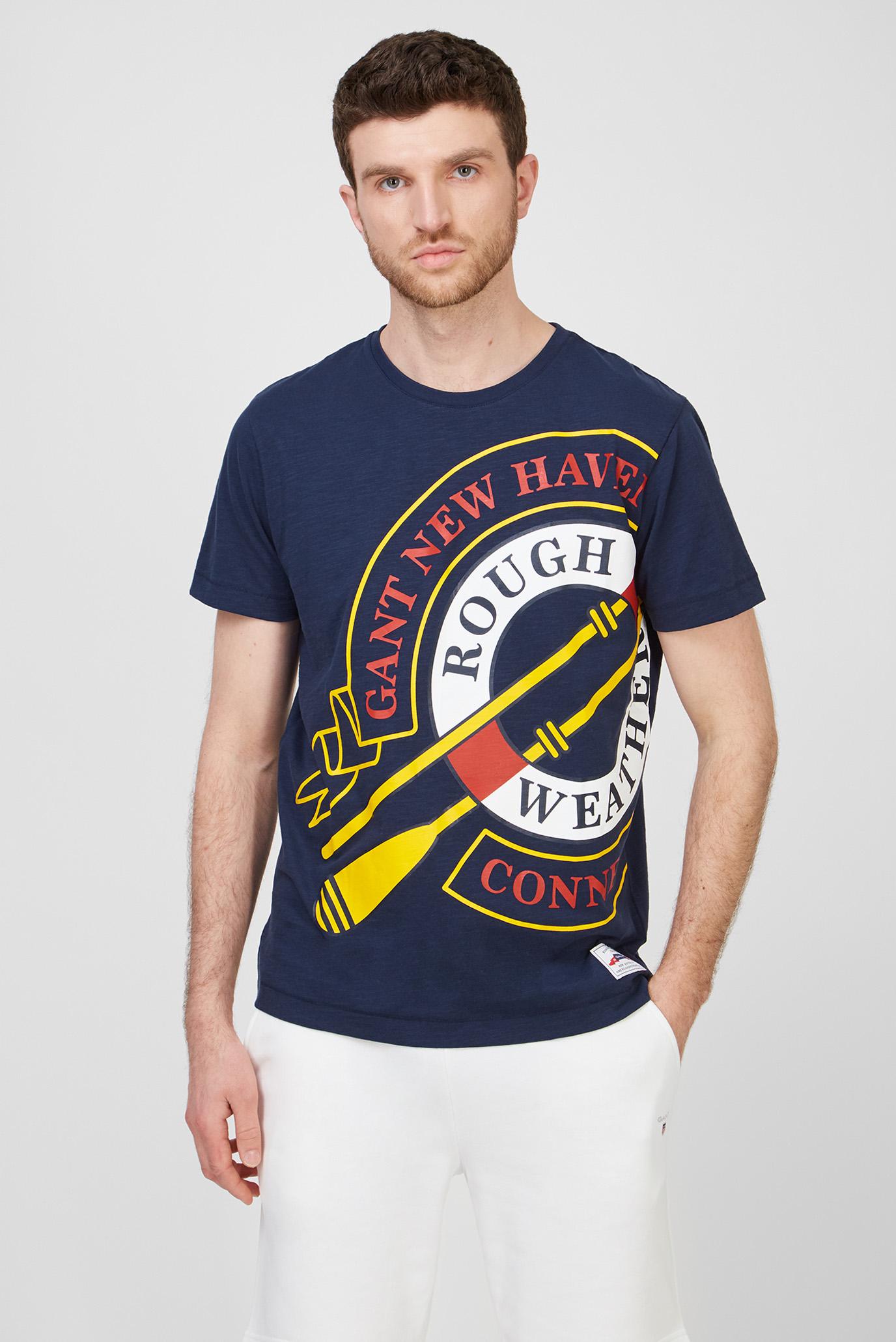 Мужская темно-синяя футболка RW GRAPHIC 1