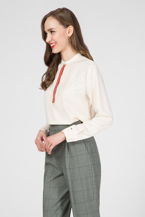 Женская бежевая блуза LS PLACKET DETAIL