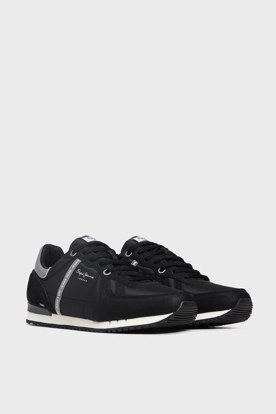 Мужские черные кожаные кроссовки TINKER ZERO 19