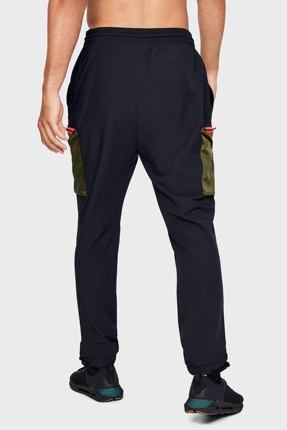 Мужские черные спортивные брюки UNSTOPPABLE CAMO CARGO