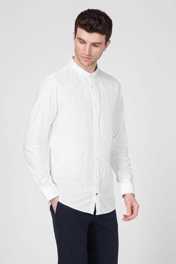 Мужская белая рубашка DOBBY BAND