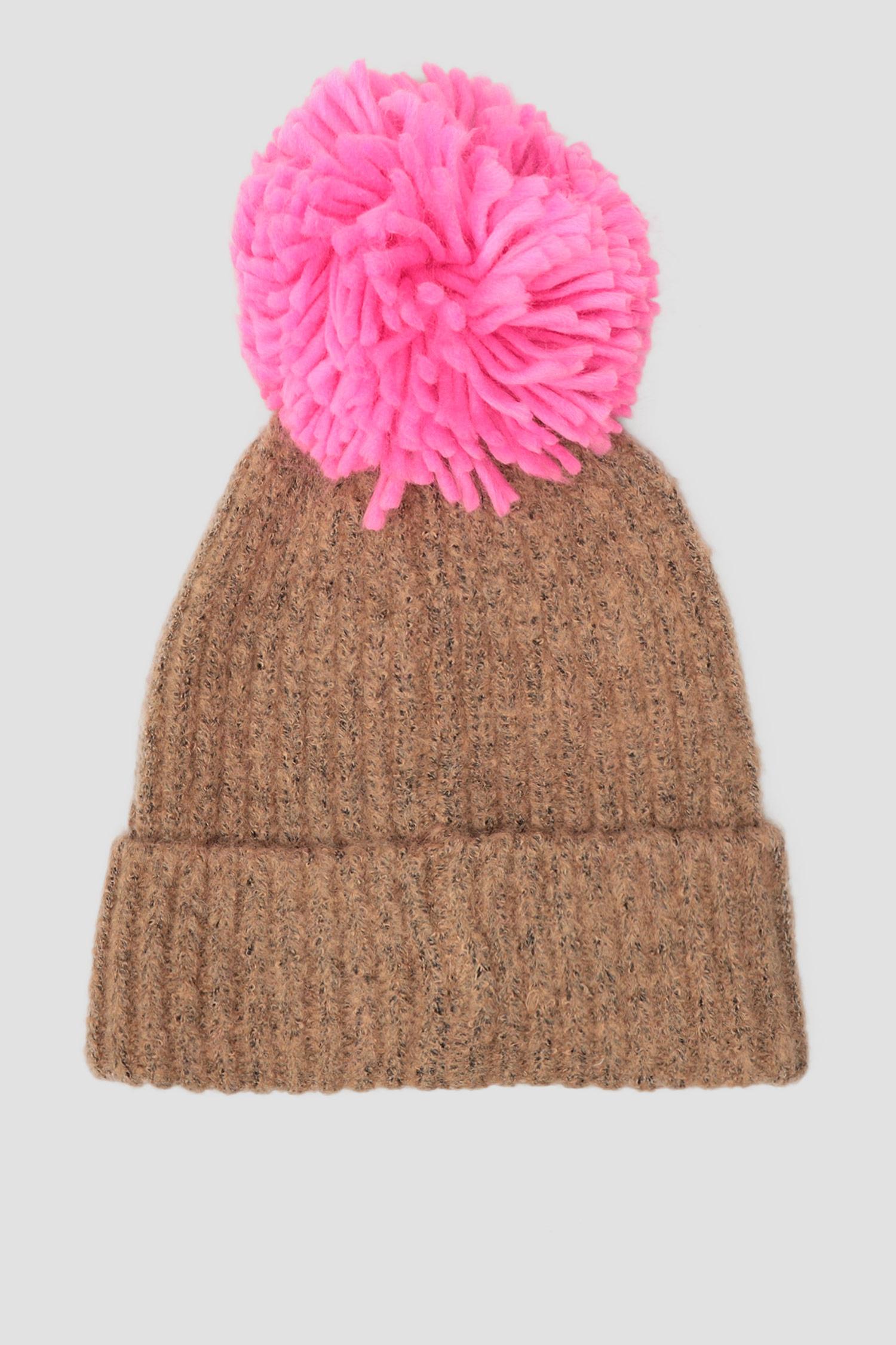Женская бежевая шапка Levi's