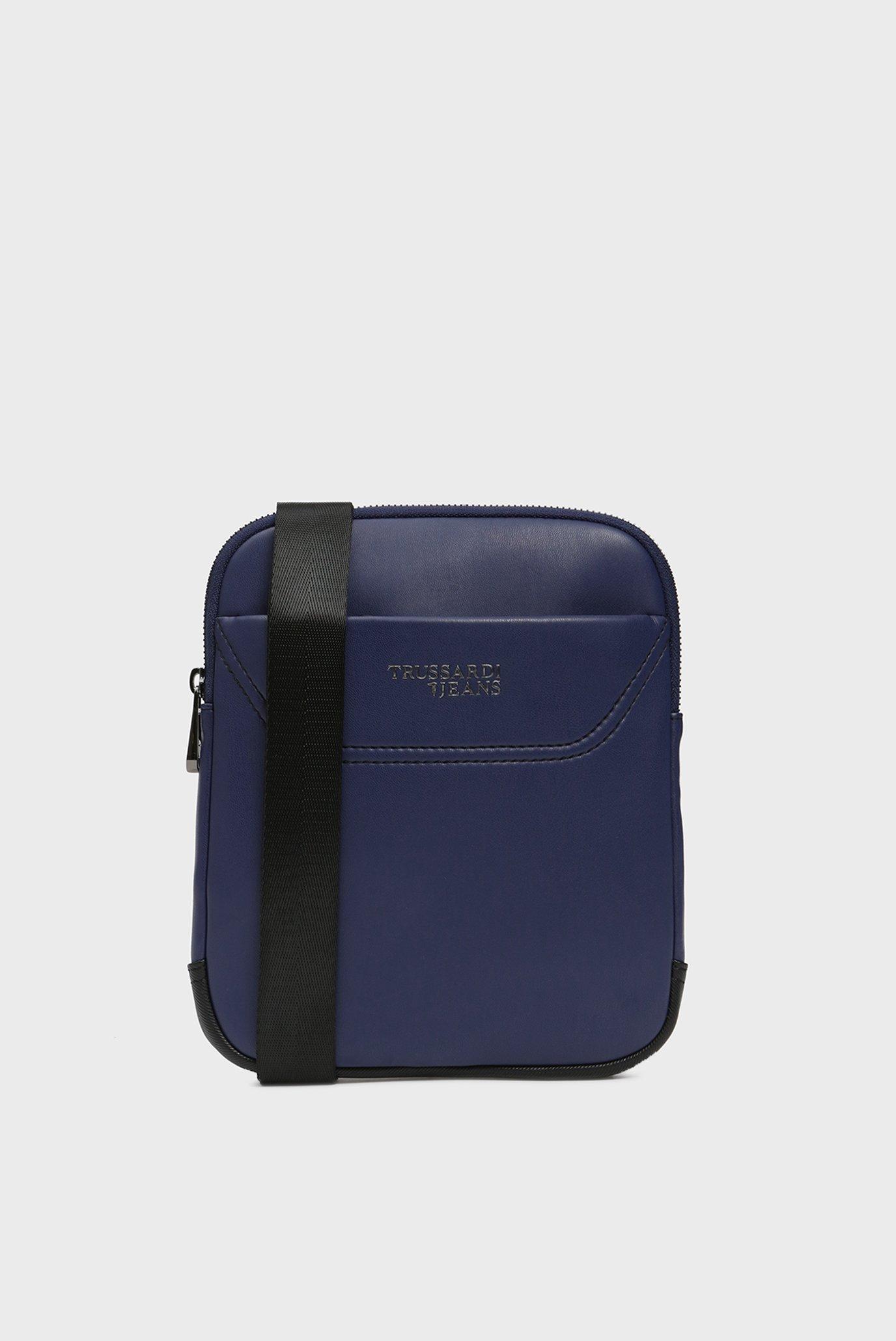 Купить Мужская темно-синяя сумка через плечо BUSINESS CITY Trussardi Jeans Trussardi Jeans 9Y099995/71B00117 – Киев, Украина. Цены в интернет магазине MD Fashion