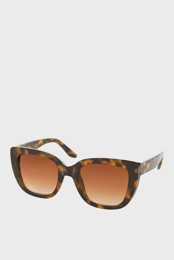 Солнцезащитные коричневые очки SARAH SQUARE