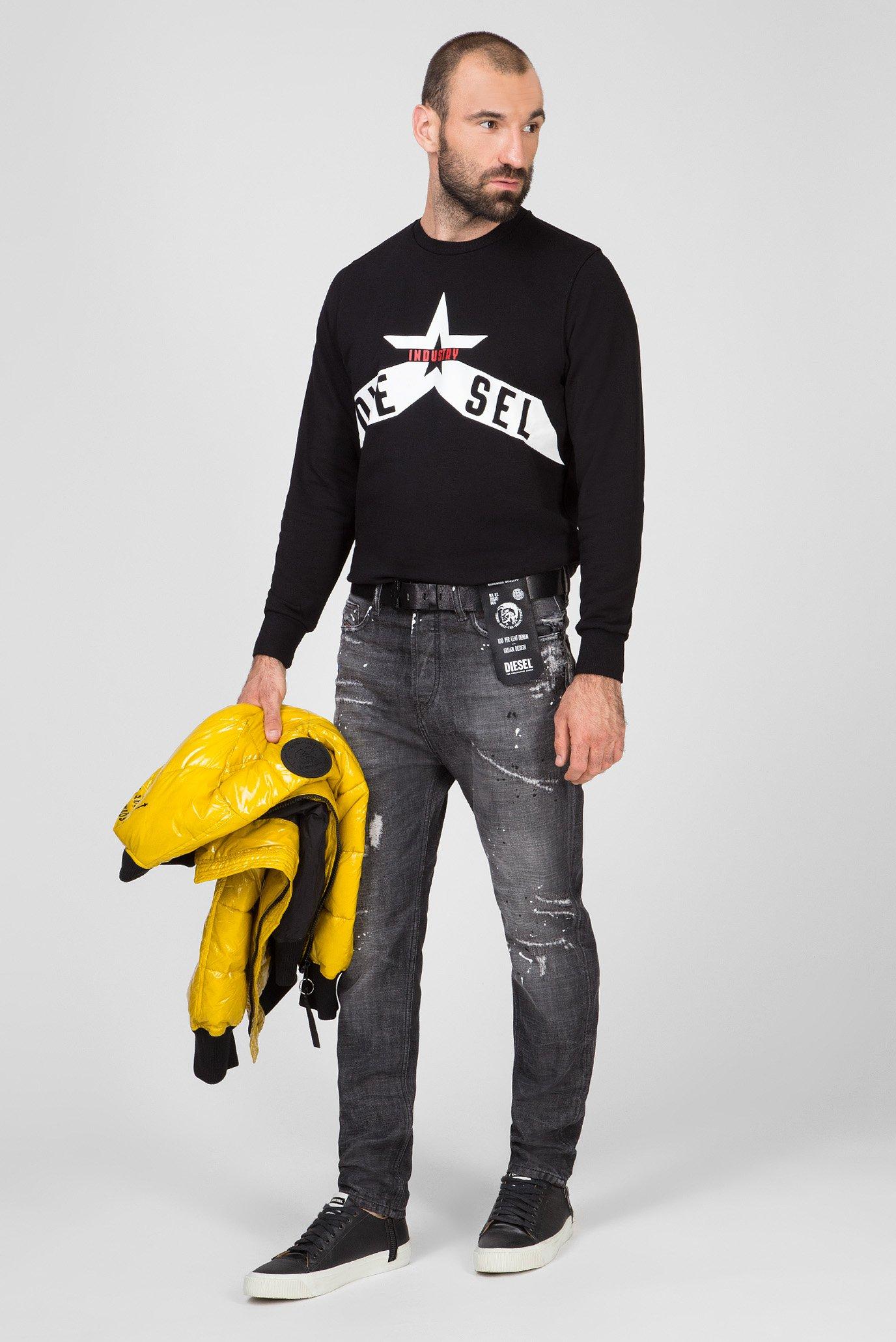 Мужские серые джинсы D-VIDER Diesel