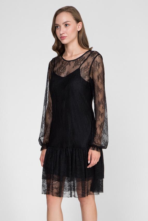 Женское черное платье LIGHT LACE