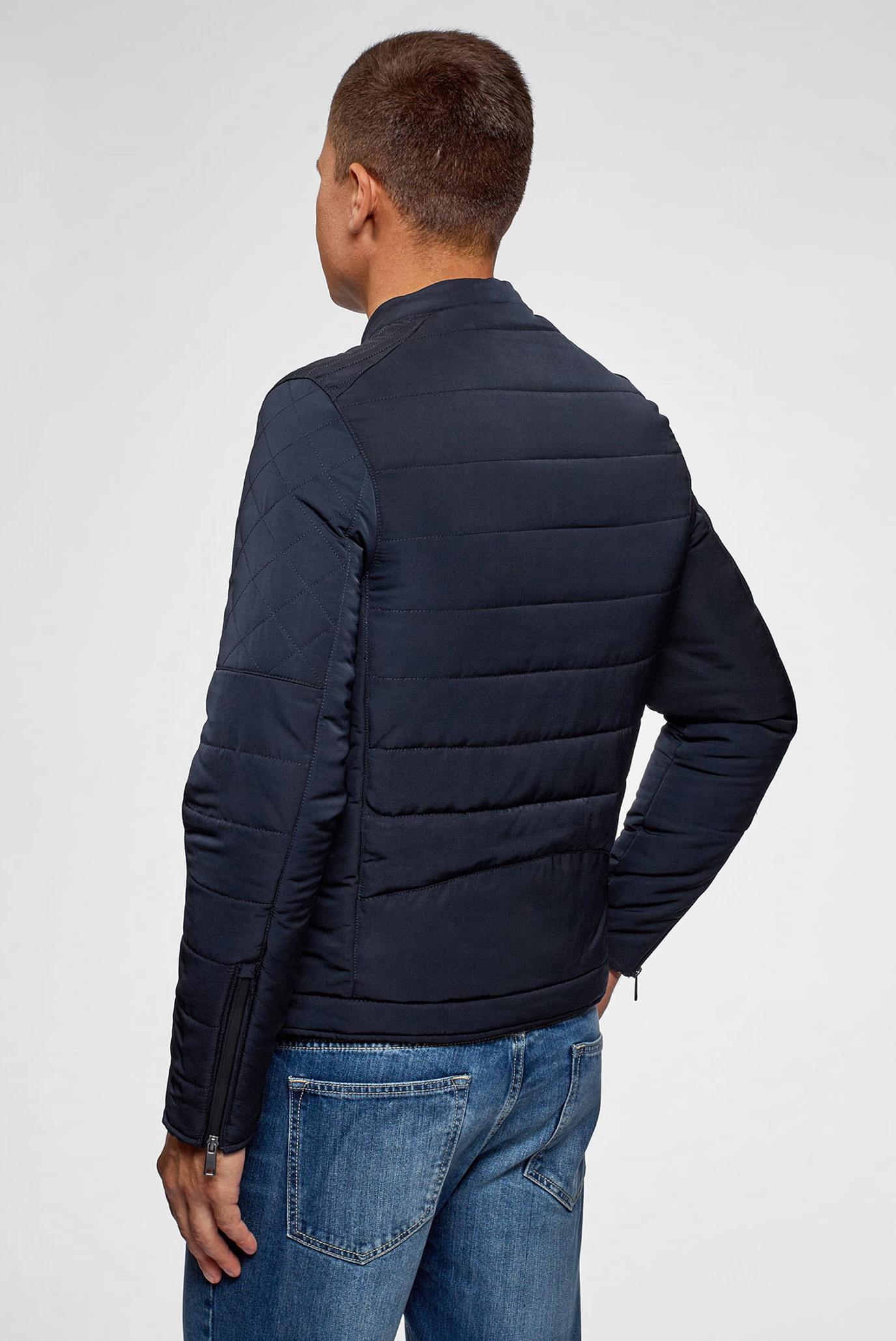 Мужская темно-синяя куртка Oodji