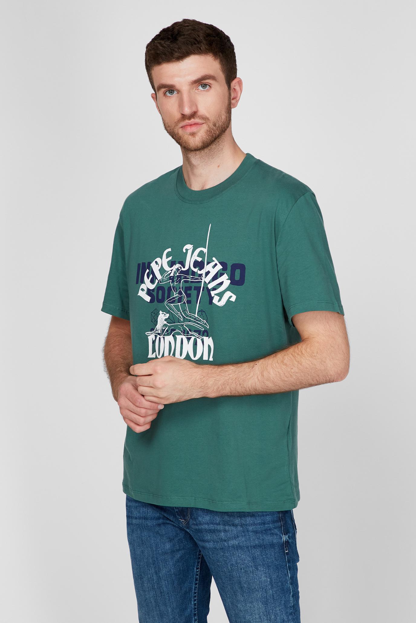 Мужская бирюзовая футболка SAMSON Pepe Jeans