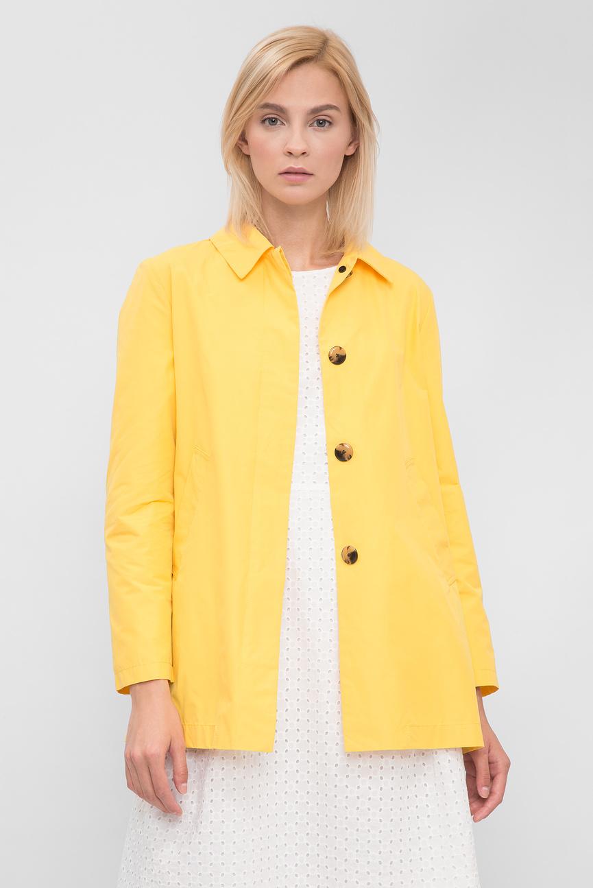 Женский желтый плащ