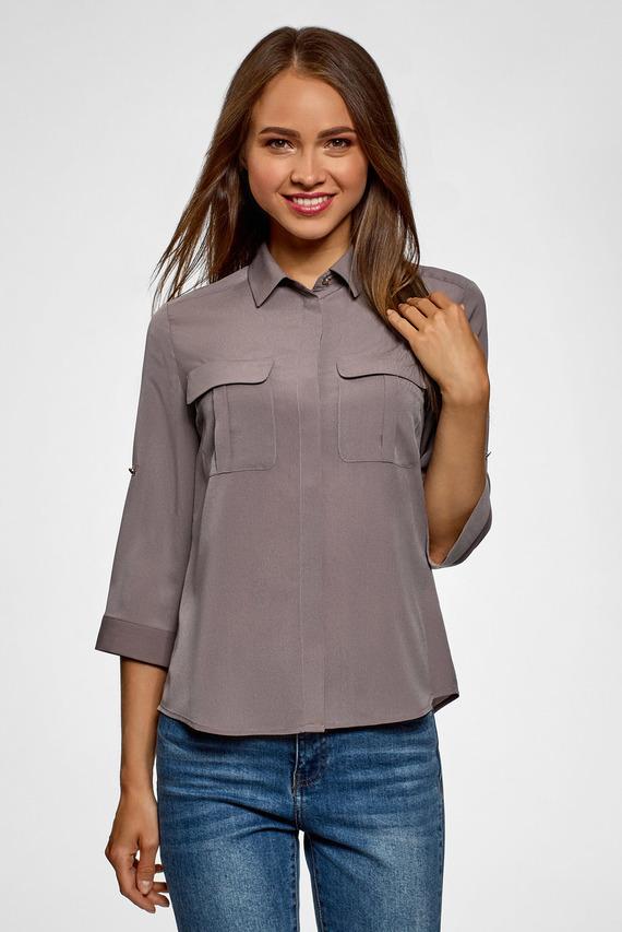 Женская коричневая блуза