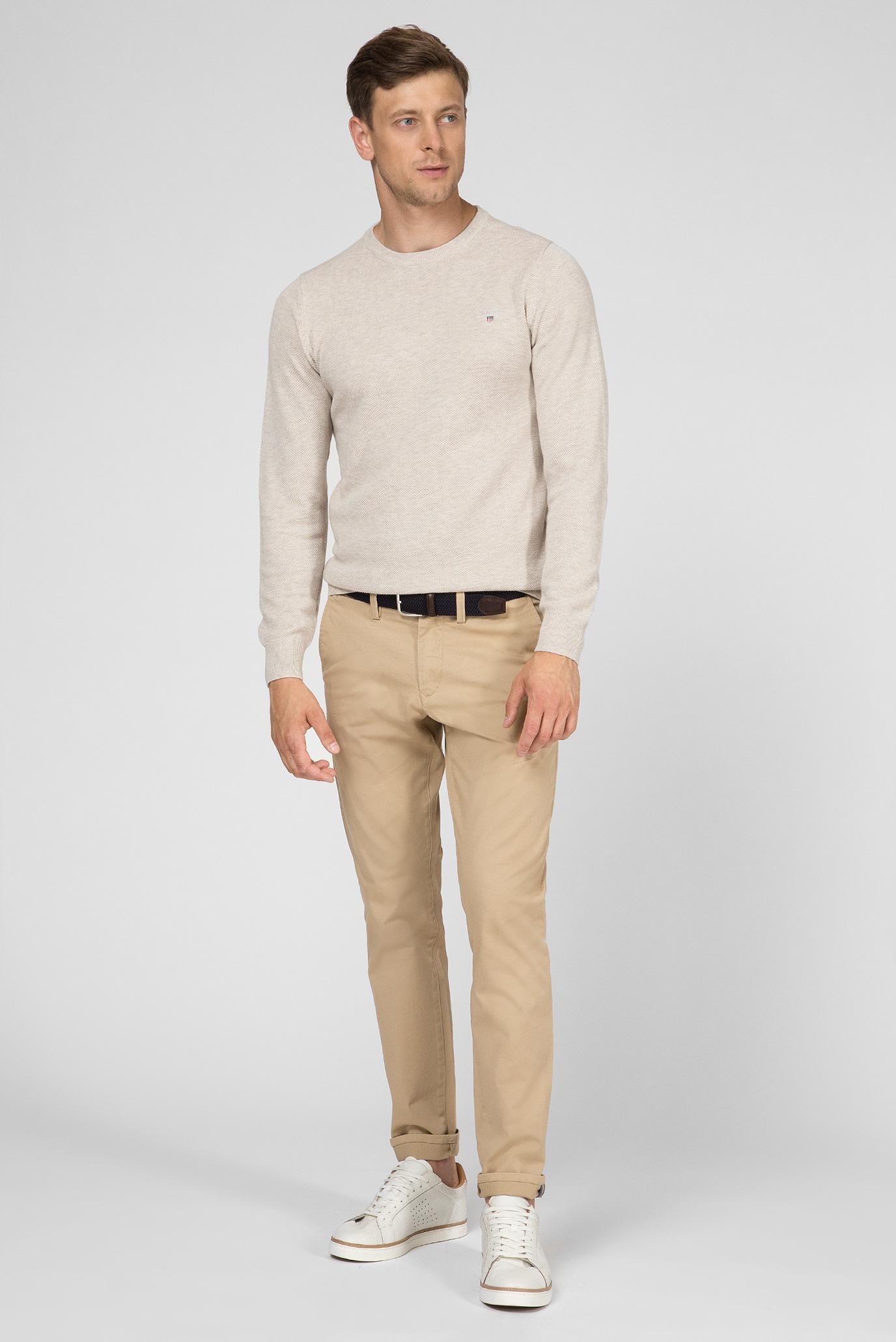 Купить Мужской светло-бежевый джемпер COTTON PIQUE Gant Gant 80021 – Киев, Украина. Цены в интернет магазине MD Fashion