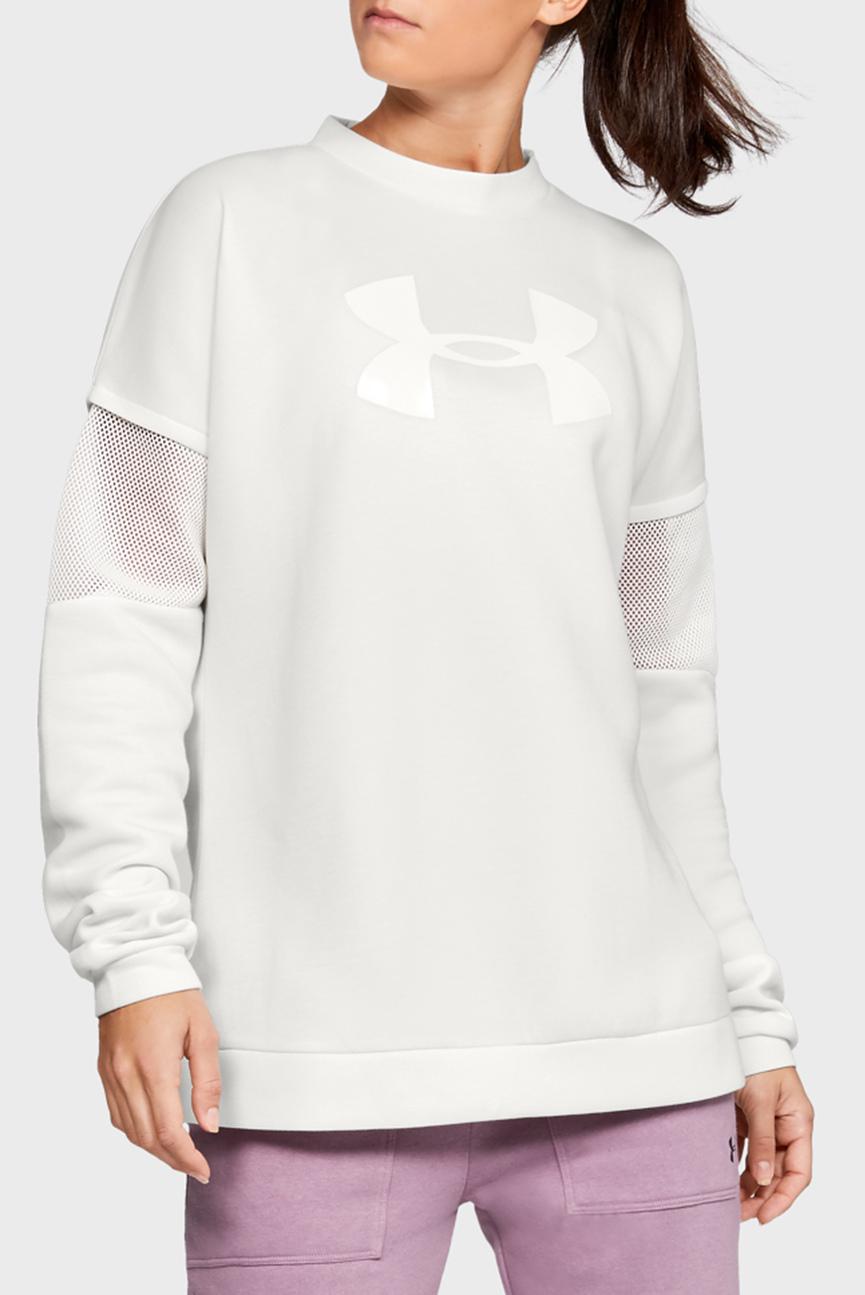 Женский белый свитшот с перфорацией UA Move Light Tunic