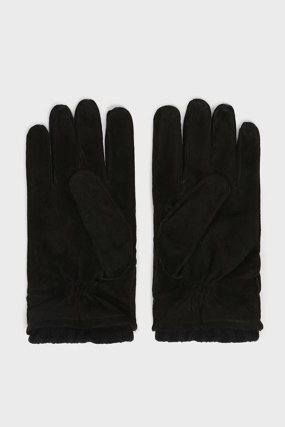 Мужские черные замшевые перчатки LEONARDO