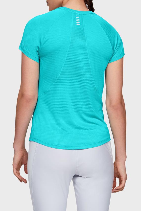 Женская голубая футболка UA Qualifier RUN