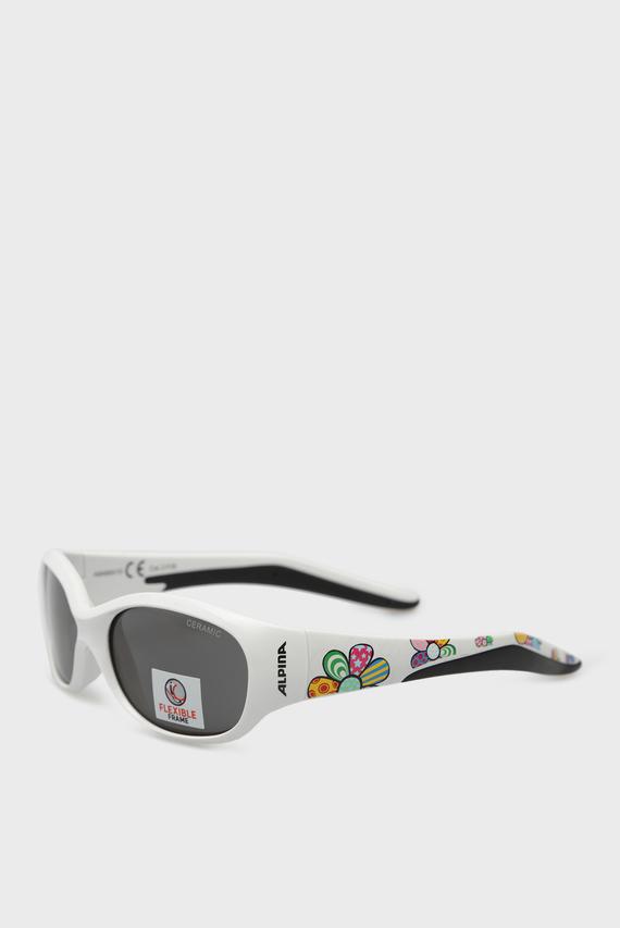 Детские белые солнцезащитные очки FLEXXY KIDS
