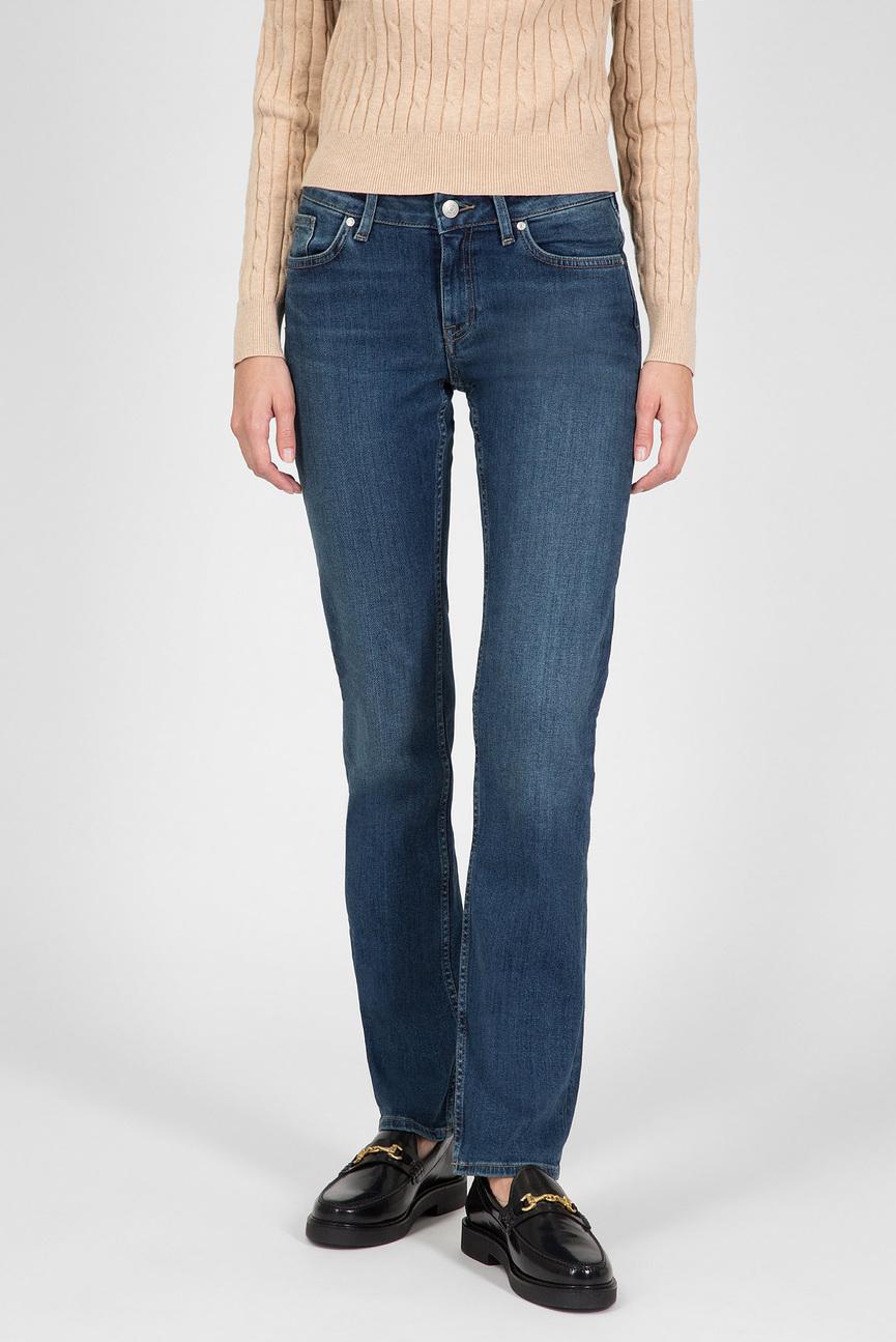Женские синие джинсы STRAIGHT SUPER STRETCH JEANS
