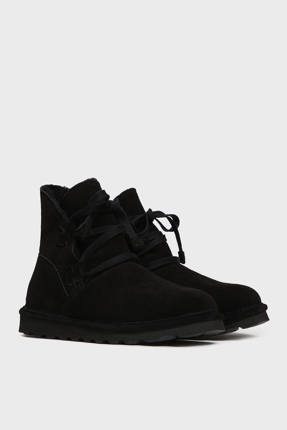 Женские черные замшевые ботинки ZORA