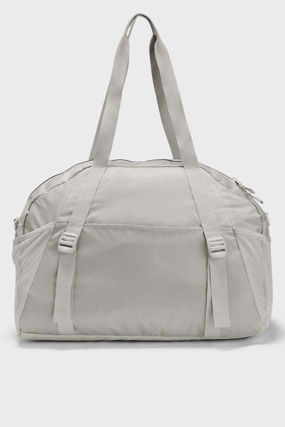 Женская белая спортивная сумка UA Project Rock Gym Bag-WHT