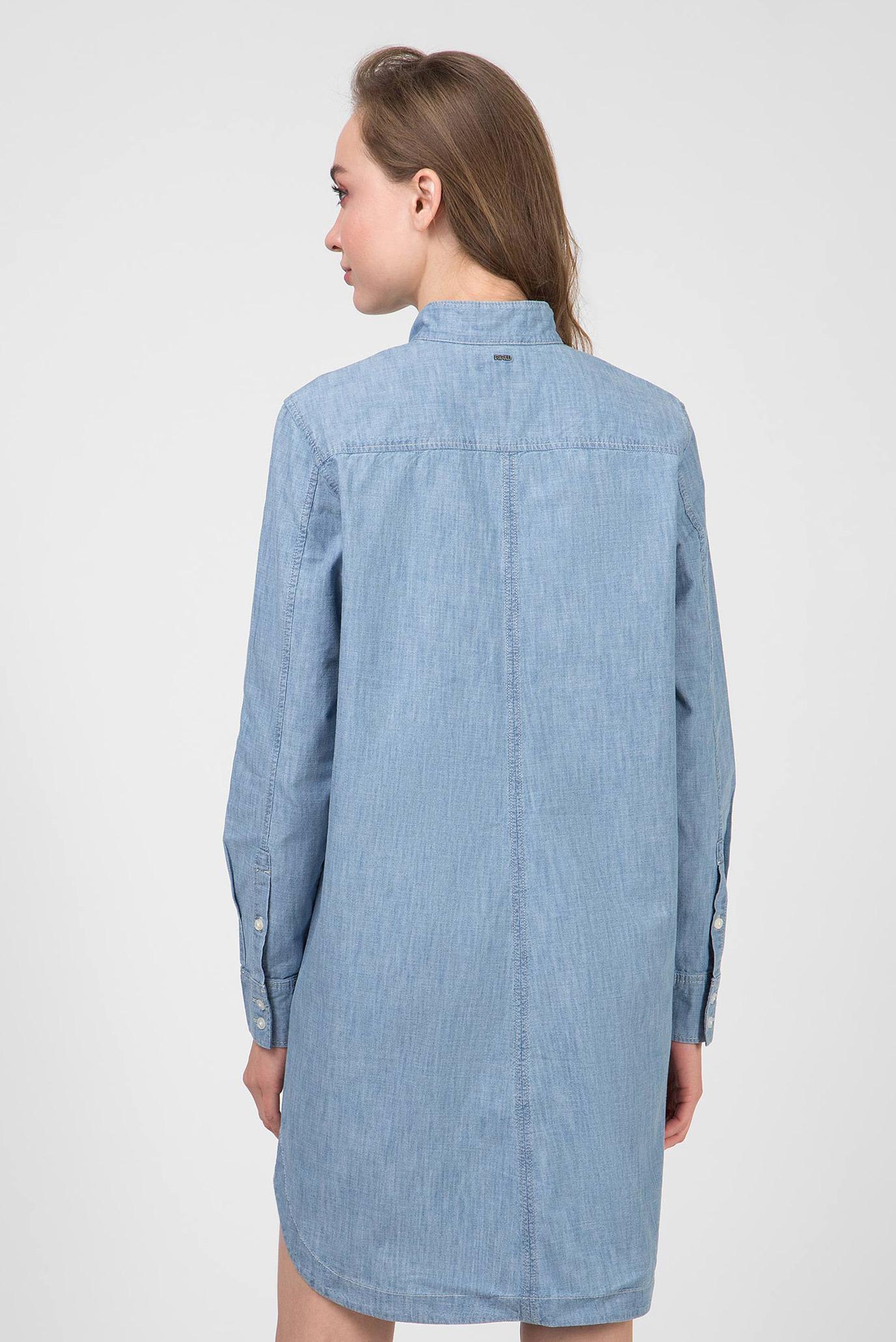 Женское голубое джинсовое платье Milary shirt G-Star RAW