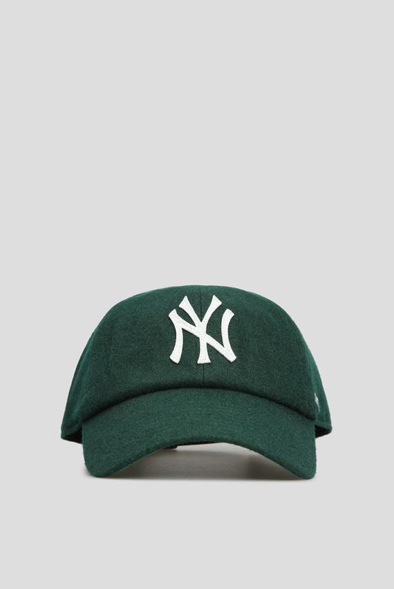 Мужская зеленая шерстяная кепка NEW YORK YANKEES
