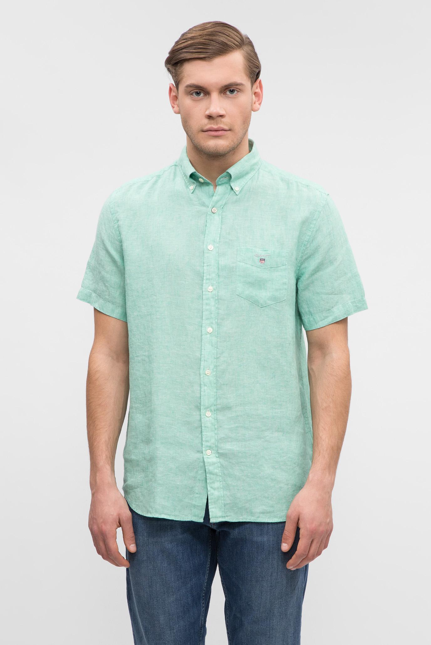 Купить Мужская ментоловая рубашка Gant Gant 3040621 – Киев, Украина. Цены в интернет магазине MD Fashion