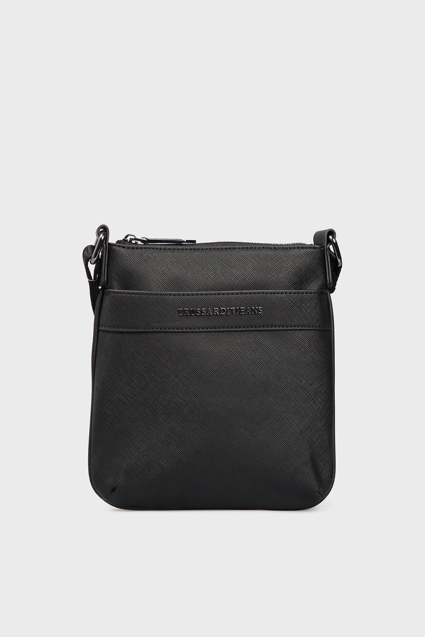 5d29288783f6 Купить Мужская черная сумка через плечо Trussardi Jeans Trussardi Jeans  1Y000058/71B00029 – Киев, Украина. Цены в ...