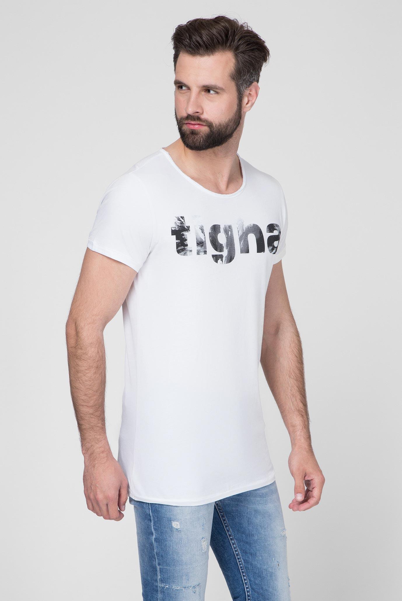 Мужская белая футболка Logo Waves MSN Tigha