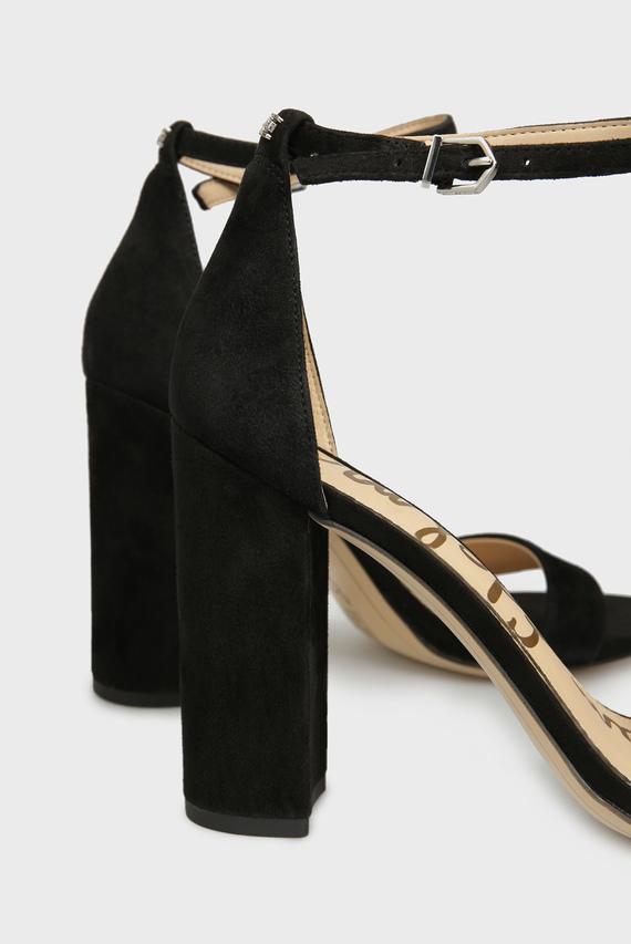 Женские черные замшевые босоножки YARO