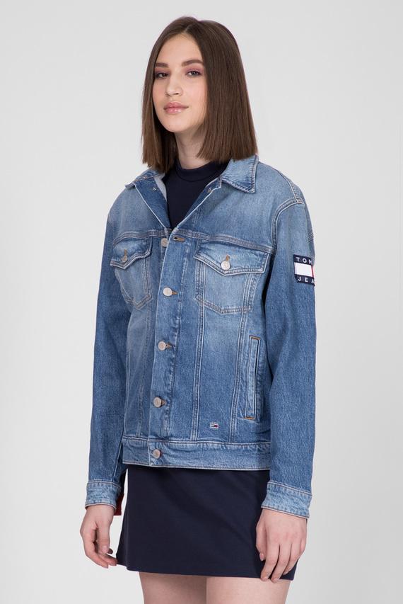 Женская синяя джинсовая куртка OVERSIZE TRUCKER JACKET ANMB