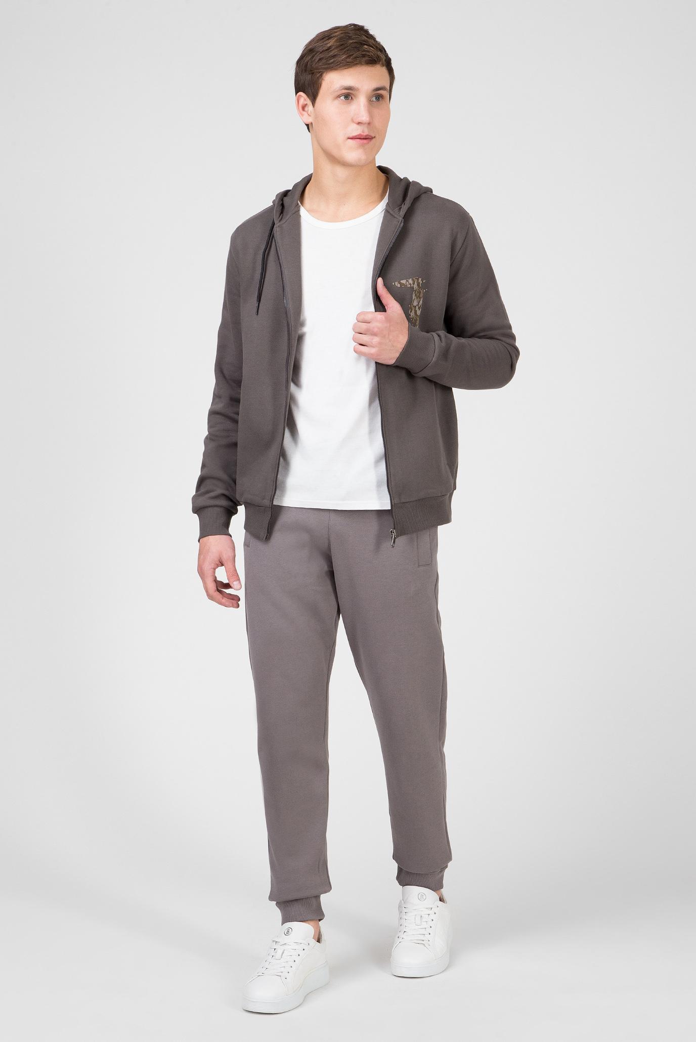 Мужское серое худи REGULAR FIT Trussardi Jeans