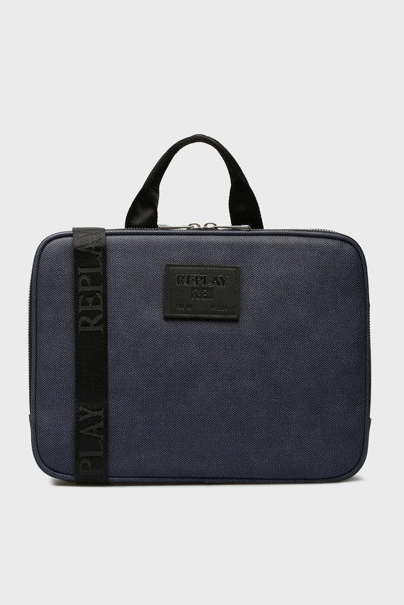Мужская синяя сумка для ноутбука