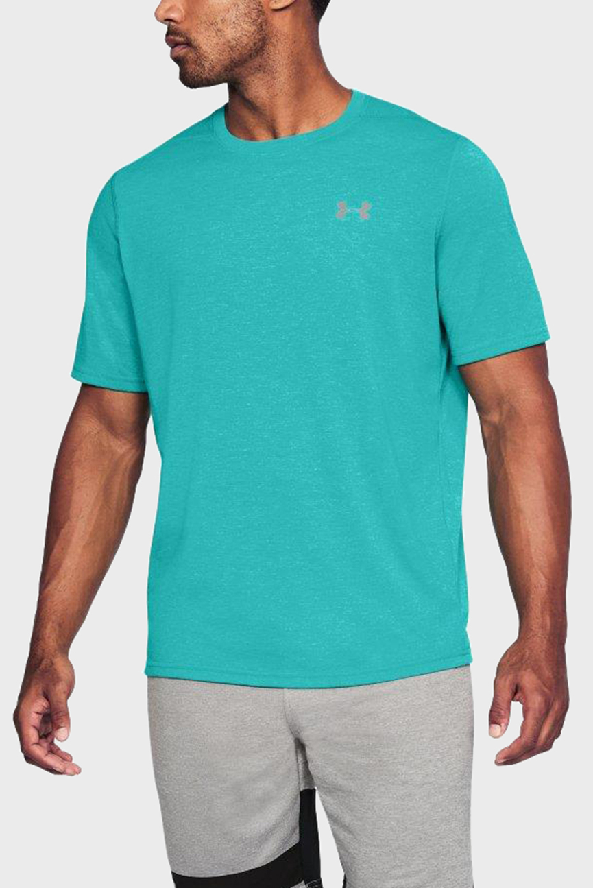Мужская бирюзовая футболка UA Threadborne Nov SS