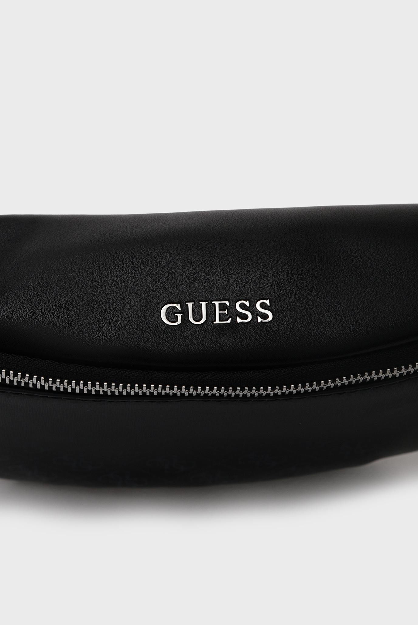Мужская черная поясная сумка DAN 4G PRINT Guess