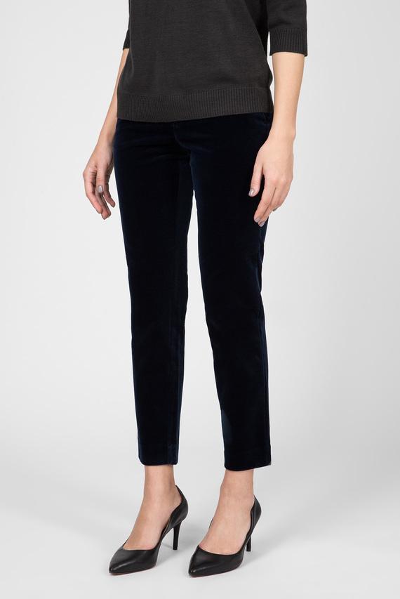 Женские синие бархатные брюки