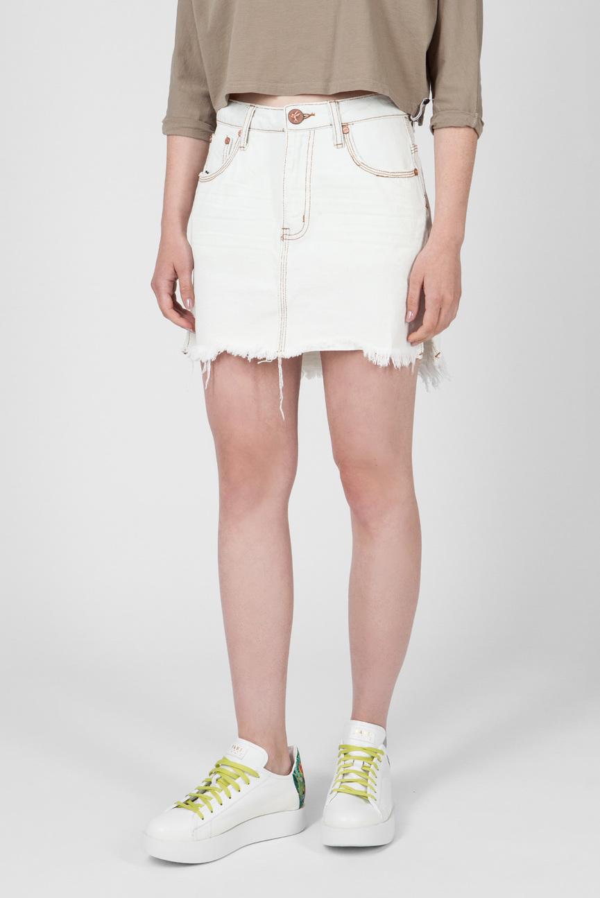 Женская белая джинсовая юбка COCONUT 2020 SKIRT