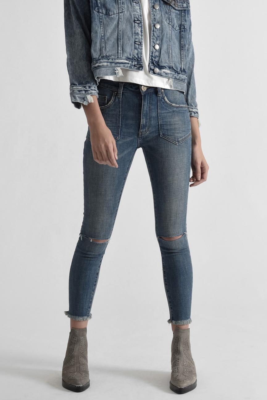 Женские голубые джинсы VINTAGE INDIGO HIGH WAIST FREE