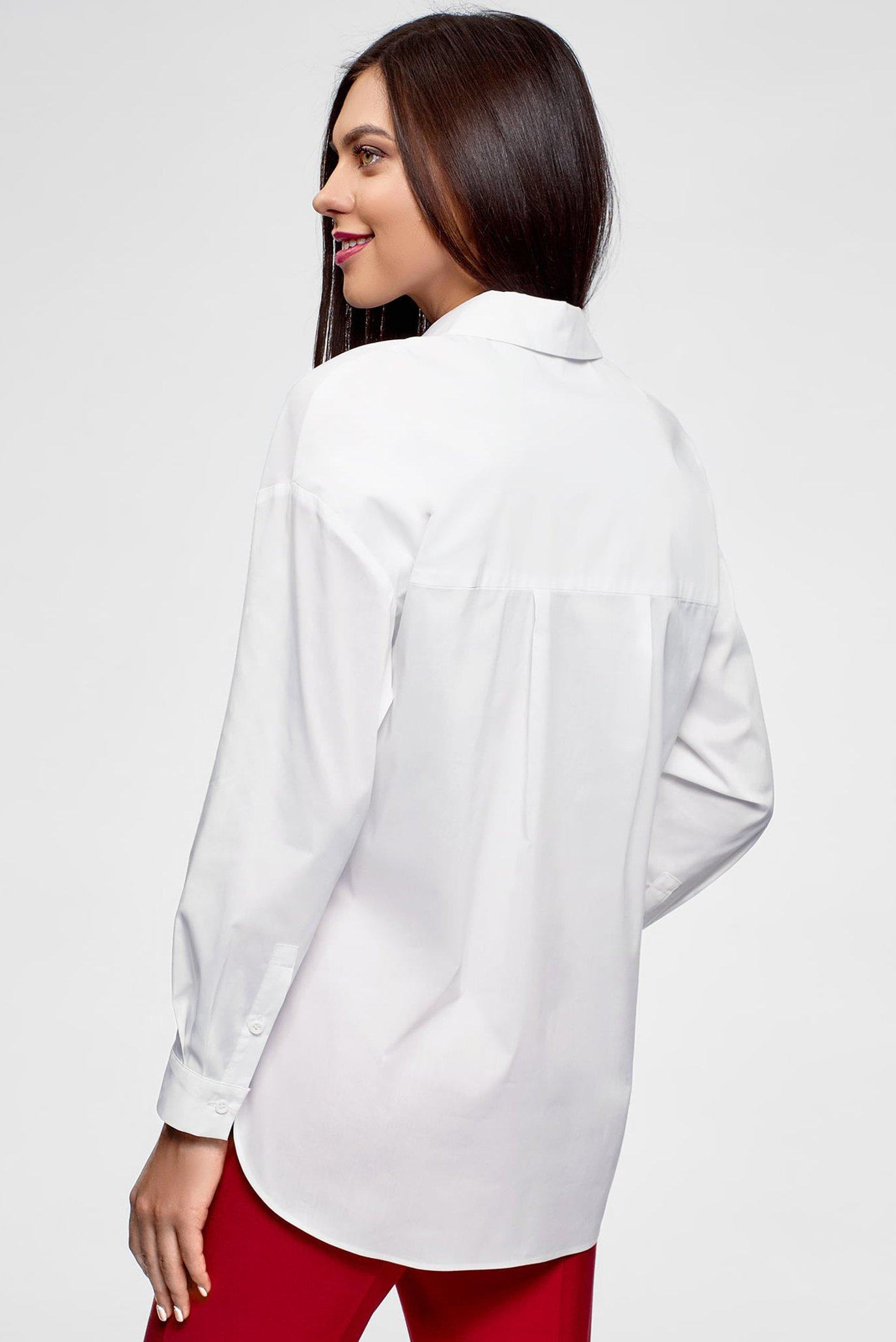 fd088675c1b2ea1 Купить Женская белая рубашка Oodji Oodji 13K11004/42785/1000N – Киев,  Украина. Цены в интернет магазине MD Fashion