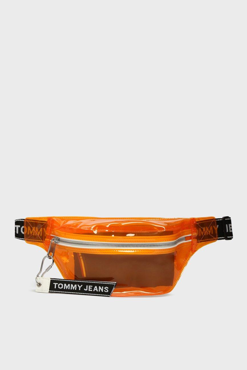 Оранжевая поясная сумка TJU LOGO TAPE BUMBAG TRAN