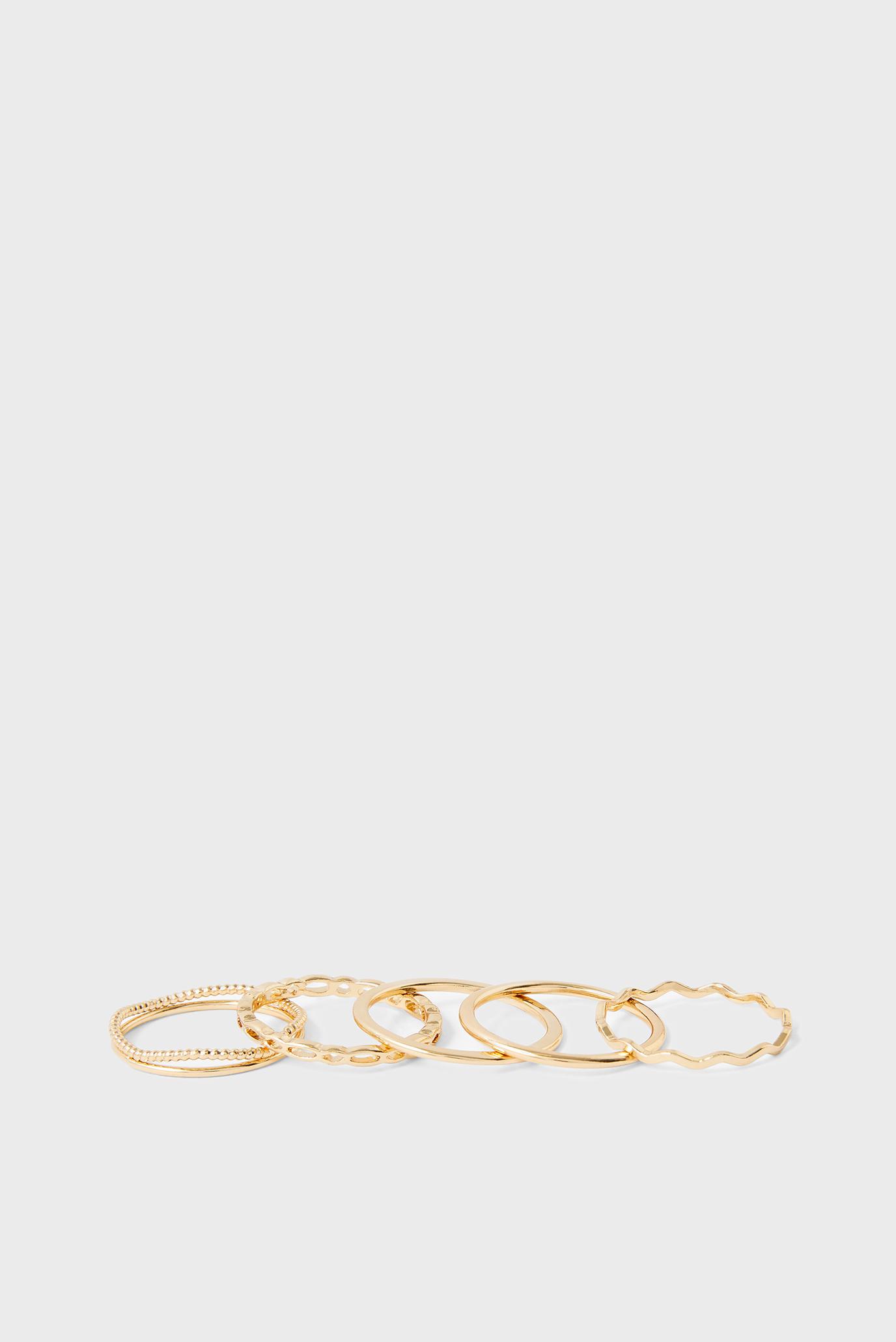 Жіночі золотисті каблучки (5 шт) DFG FINE RING PA 1