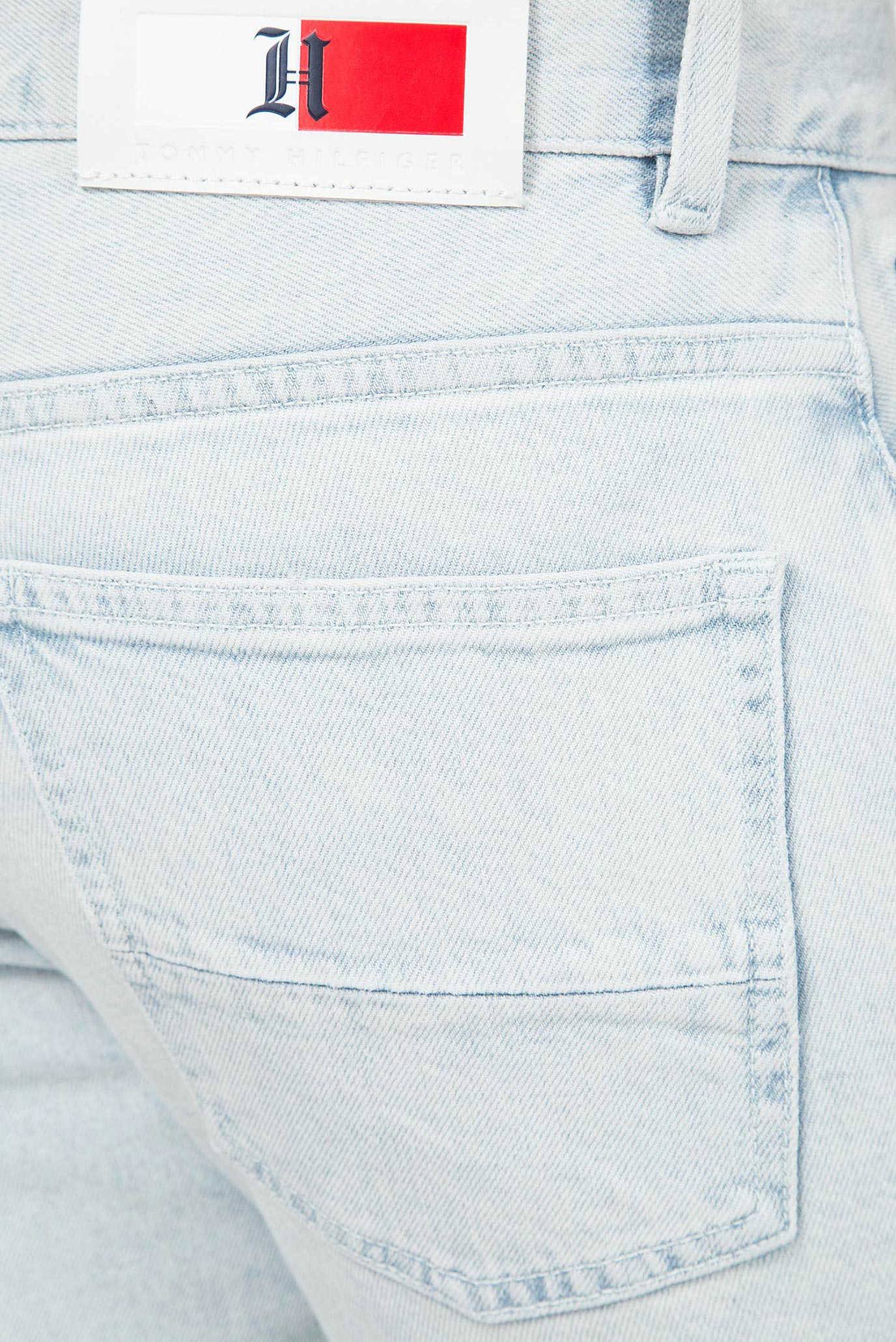 Мужские голубые джинсовые шорты Lewis Hamilton SLIM BLEACH WASH Tommy Hilfiger