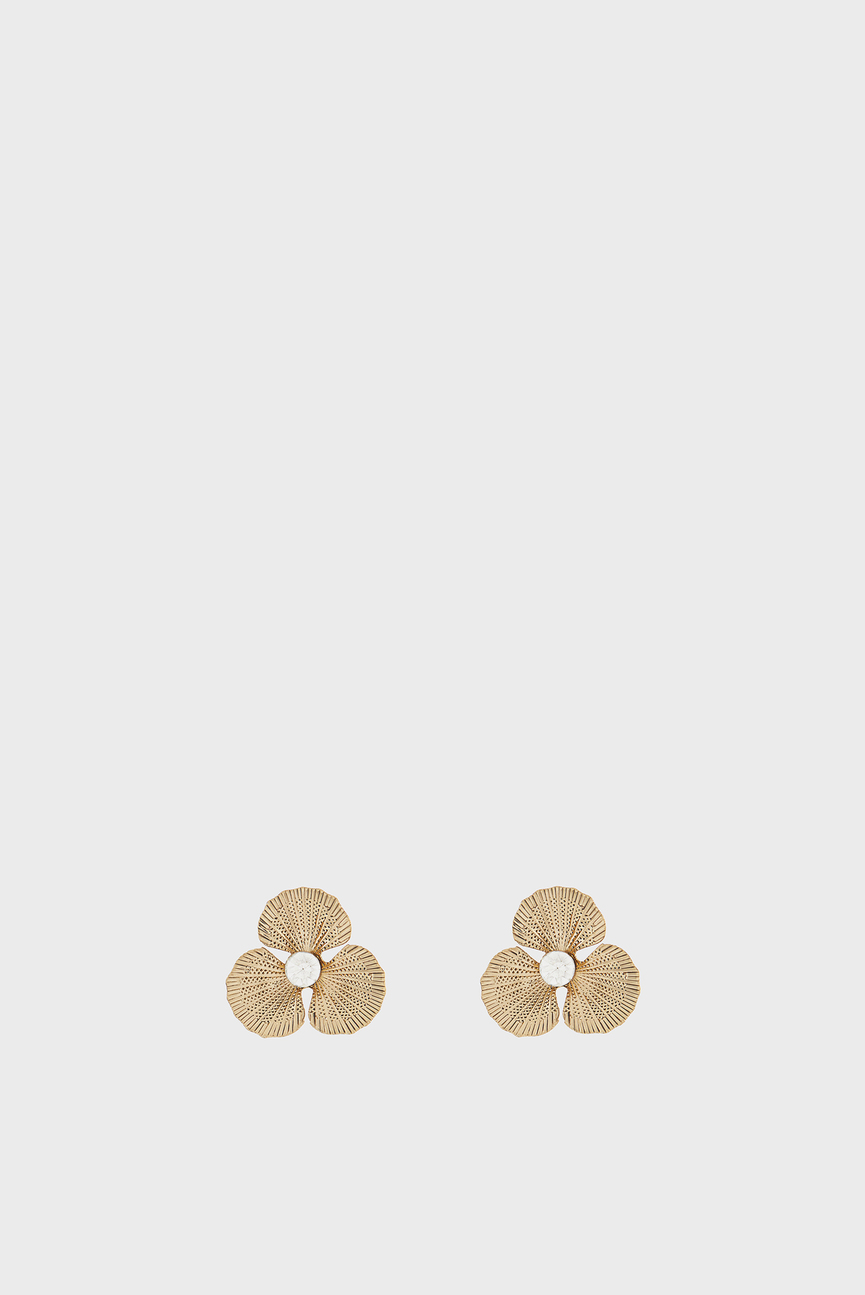 Женские золотистые сережки