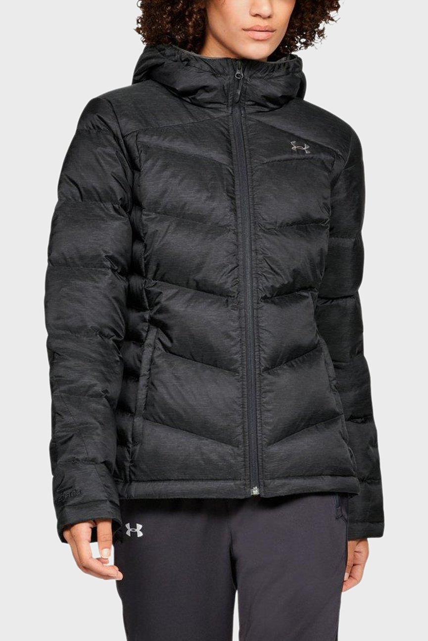 Женский черный пуховик Down Sweater Hooded - WARM