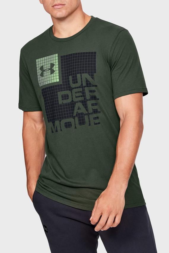 Мужская зеленая футболка UA GRID SS