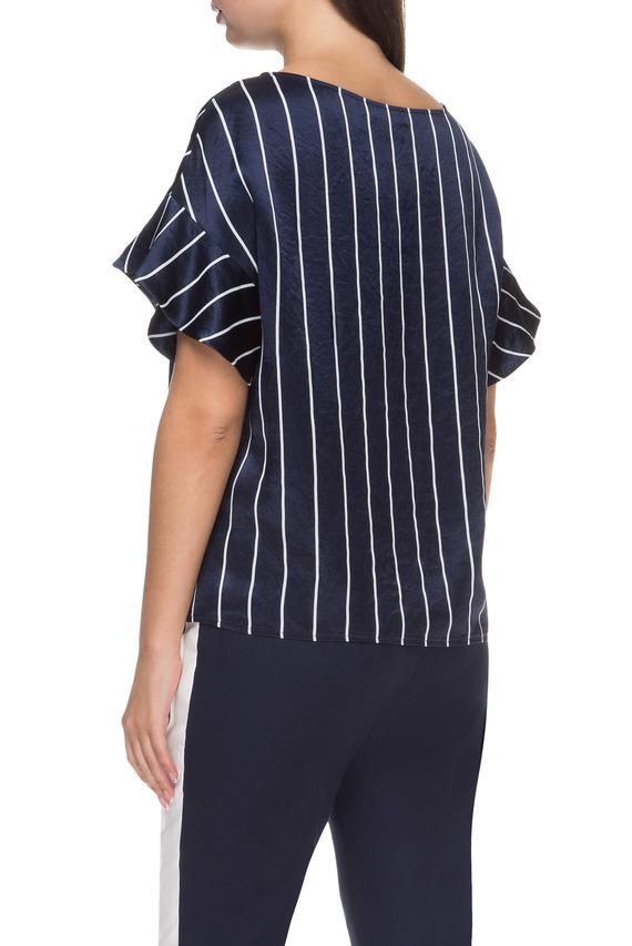 Женская темно-синяя блуза
