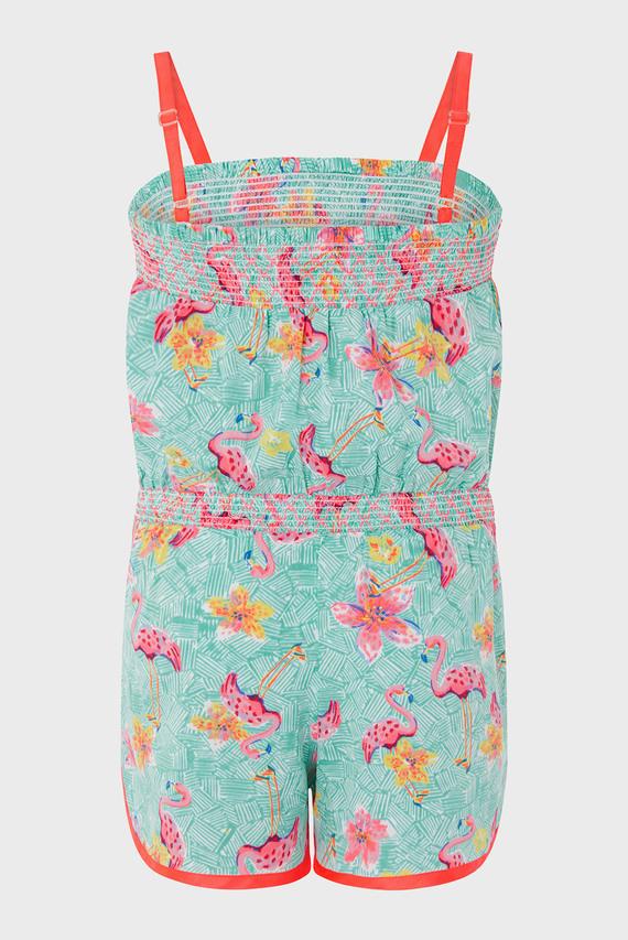 Детский бирюзовый комбинезон Skye Flamingo